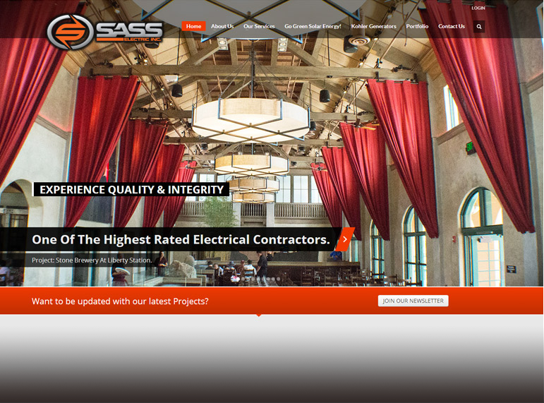 Sass Electric Inc. Web Site